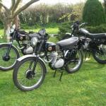1954 ISDT team bikes